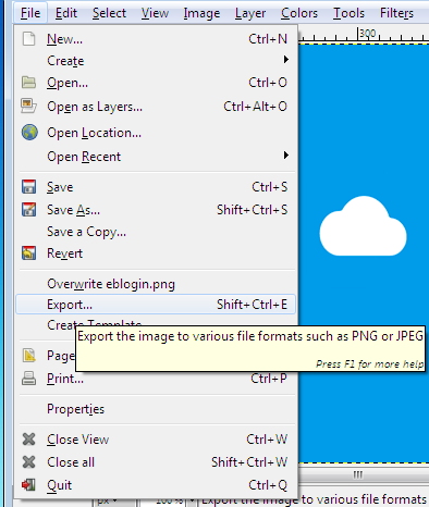 gimp-save-image-for-web