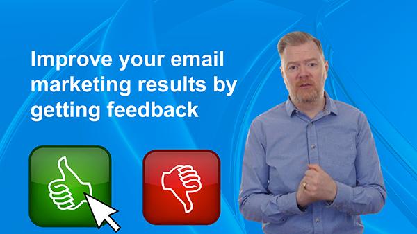 email marketing feedback