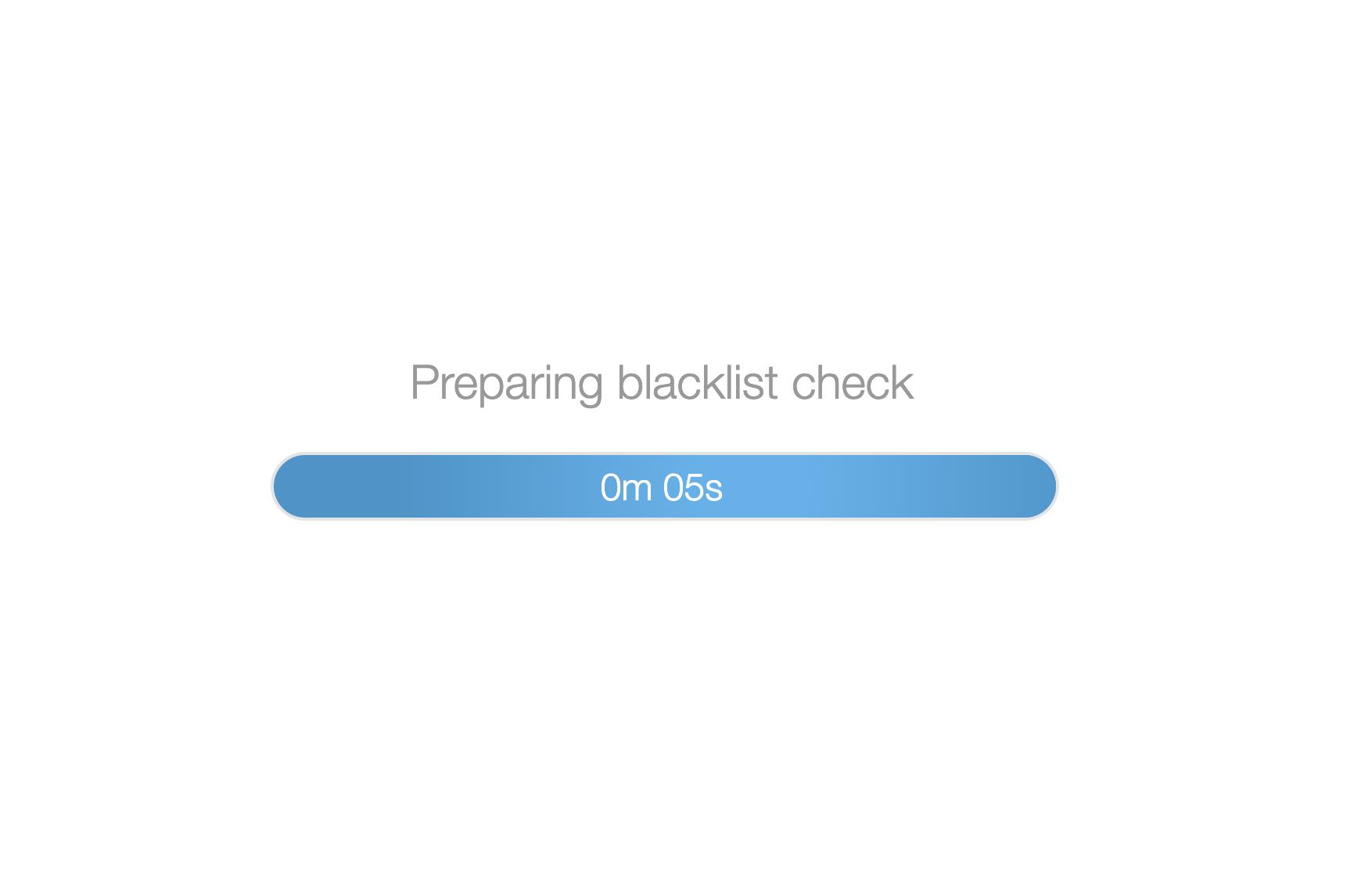 Blacklist check